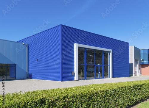 Foto op Canvas Industrial geb. blue warehouse