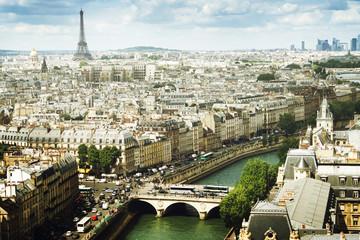Fototapeta Paryż View on Paris, France