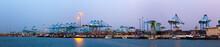 Panorama Of  Port Of Algeciras