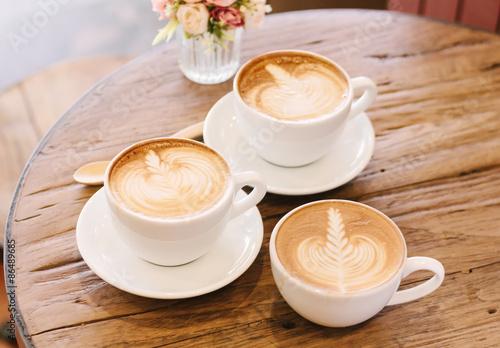 Fotografie, Obraz  Šálek kávy latte art