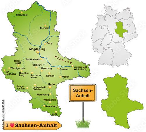 Karte Sachsen Anhalt.Karte Von Sachsen Anhalt Buy This Stock Vector And Explore Similar