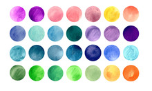 Watercolour Circle Textures. M...