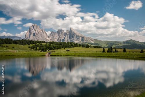 Poster Reflexion riflessi dei monti nel laghetto
