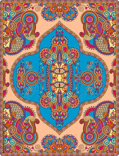 Foto auf AluDibond Boho-Stil elaborate original floral large area carpet design