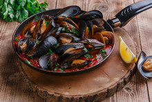 Oyster Mussels In Red Sauce In...