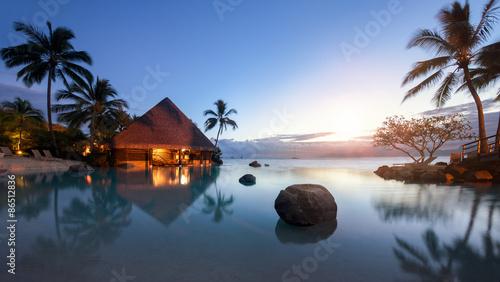 Foto auf Gartenposter Ozeanien Urlaub in der Karibik