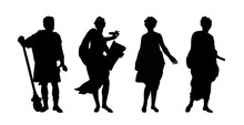 Greek Gods And Heroes Silhouet...
