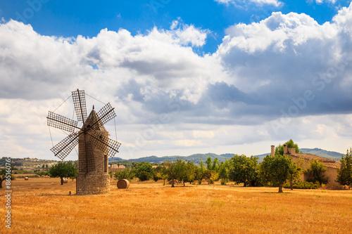 Tuinposter Molens Mühle auf Mallorca