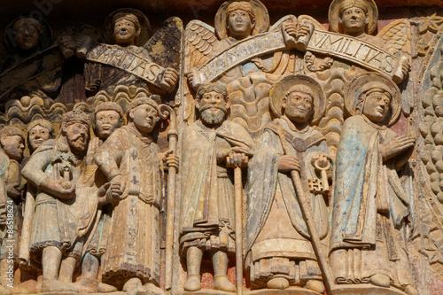 Foto  Tympanon der Abtei Sainte Foy in Conques