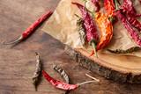 Wysuszone papryczki chili