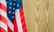independence day 4 JULY america flag on wood background Filtered