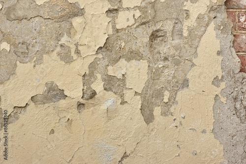 Foto auf AluDibond Alte schmutzig texturierte wand Cracked Concrete Wall Detail Background