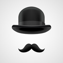 Boss Gentleman With Moustaches...