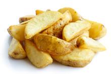 Heap Of Fried Potato Wedges Is...