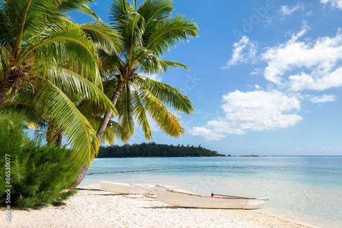 Fotografie, Obraz  Traumurlaub auf einer einsamen Insel in der Karibik