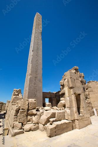 In de dag Egypte Obelisk of Queen Hapshetsut in Karnak, Egypt