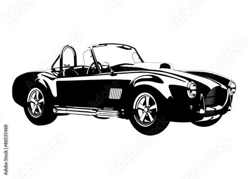 silhouette сlassic sport car ac cobra roadster Fototapet