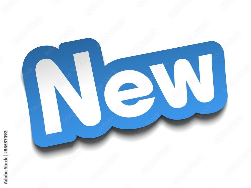 Fototapety, obrazy: new badge