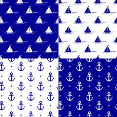 Naklejka Marynistyczny marine pattern
