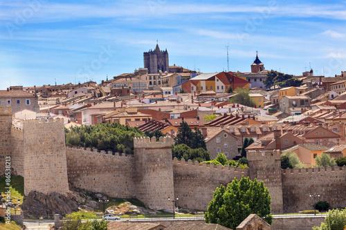 Avila Castle Walls Ancient Medieval City Cityscape Swallows Cast