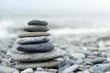 Stack of stones on a seashore