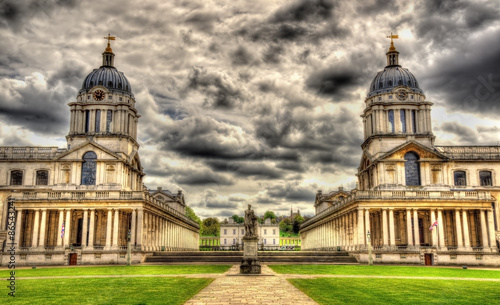 Canvas View of the National Maritime Museum in Greenwich, London