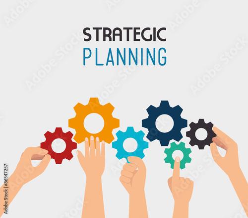 Fotografía Strategic planning design.