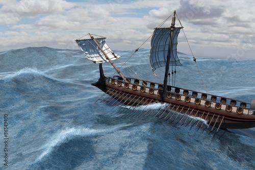 Roman Warship at sea Wallpaper Mural