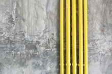 Loft Style Wall Texture Background With Yellow Pipe