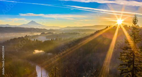 Fotografia, Obraz Mount Hood from Jonsrud viewpoint