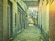 canvas print picture - Narrow medieval street in Ghent, Belgium