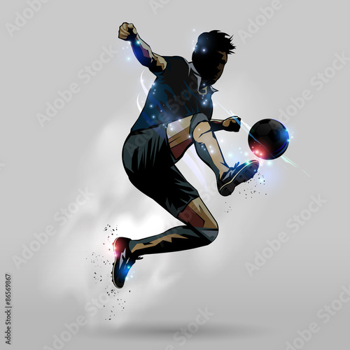 Soccer jumping touch ball 02 - 86569867