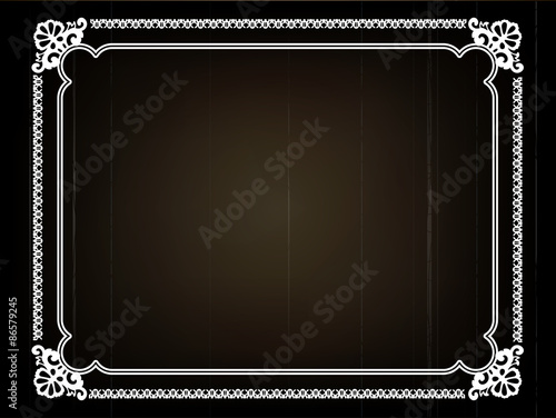Papel de parede  Old silent movie frame in art nouveu style