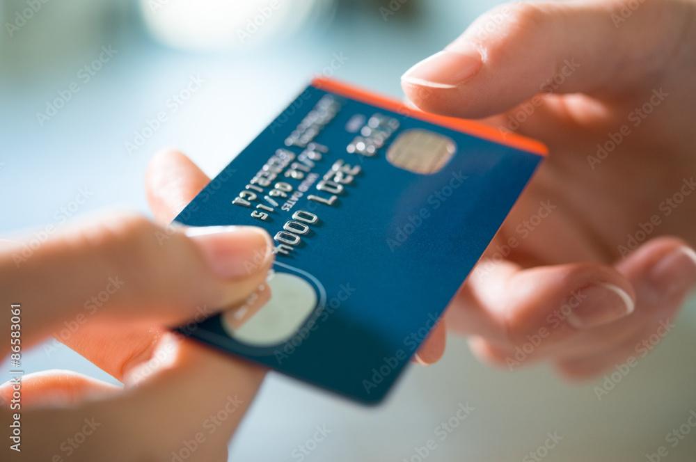 Fototapeta Buying with Credit Card