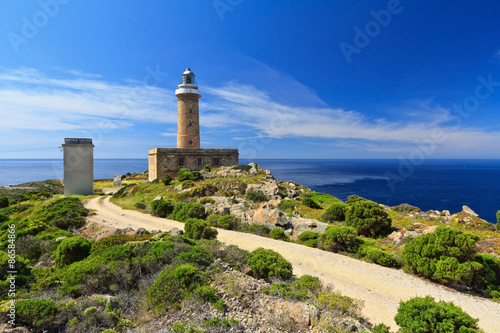 Photo  lighthouse in Capo Sandalo - San Pietro Isle, Sardinia, Italy