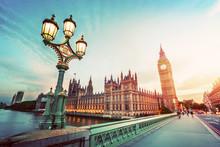 Big Ben, London The UK At Suns...