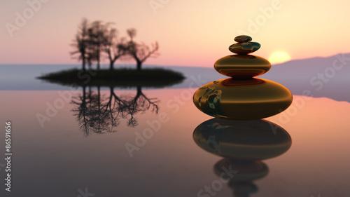 Zen stones Tablou Canvas
