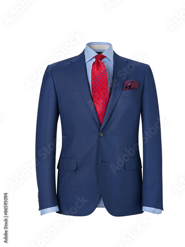 Fotografie, Obraz  mens suit isolated on white with clipping path