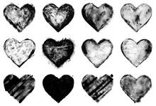 Grunge Painted Black Heart Sha...