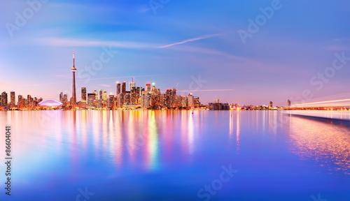 Deurstickers Toronto Panorama of Toronto skyline at twilight in Ontario, Canada
