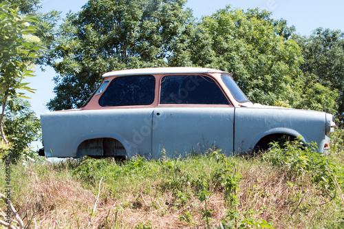 Obraz na plátně  Alte Trabant Karosserie