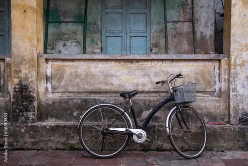 In de dag Fiets old bicycle park in old building