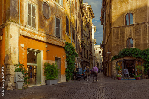 Old street in Rome, Italy #86612424