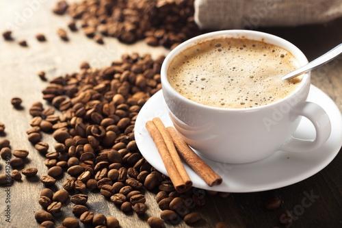 Foto op Plexiglas Chocolade Hot, cafe, steel.