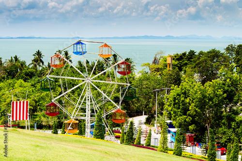 Poster Attraction parc landscape view in garden of 7 heaven krabi thailand