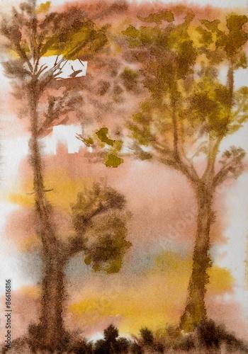 akwarela-drzewo