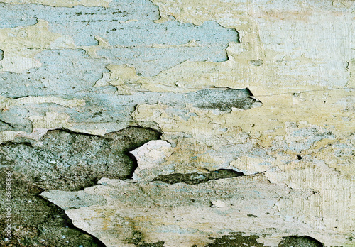 Keuken foto achterwand Retro texture or background wall of shabby paint and plaster cracks