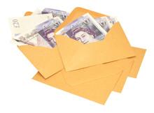 Brown Envelopes With Twenty Pound Bank Notes