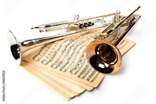 Zdjęcie XXL Trąbka, jazz, instrument muzyczny.