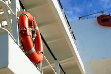 Two Lifebuoys On The Regular Places Ship